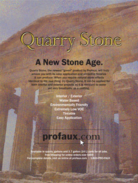 Quarry Stone Ad in Faux Finisher Magazine