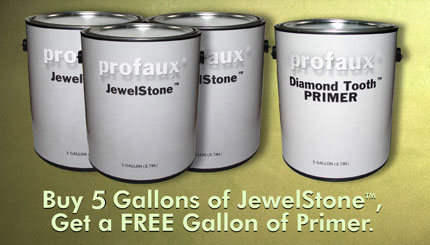 Buy 5 Gallons of JewelStone and Get Free Gallon of Primer